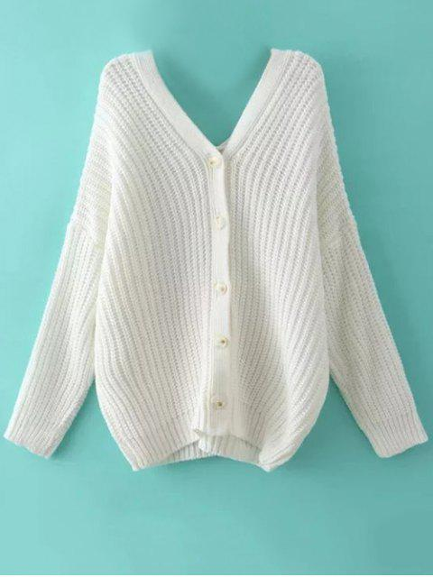 outfits Buttoned Oversized Dolman Cardigan - WHITE L Mobile