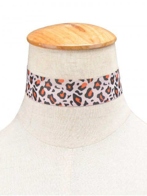 womens Leopard Cloth Choker -   Mobile