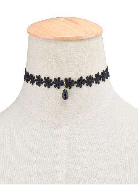 best Daisy Lace Necklace - BLACK  Mobile