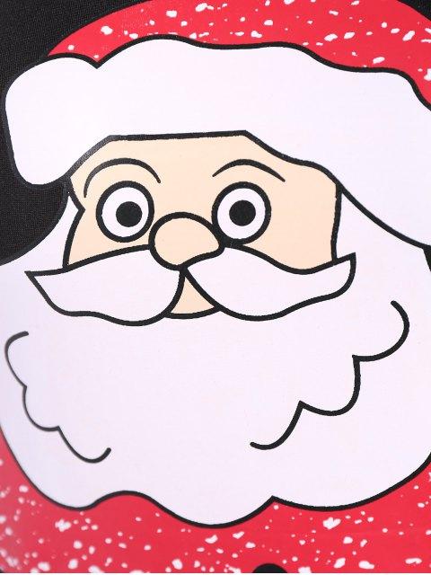 affordable Christmas Santa Clause Midi Bodycon Dress - BLACK S Mobile