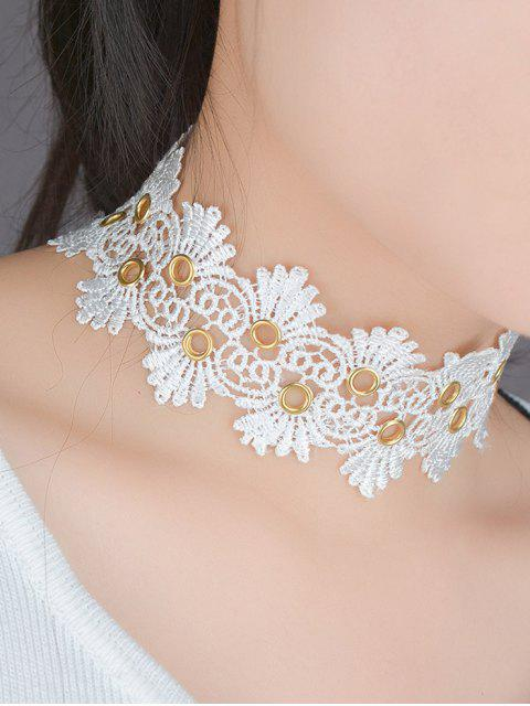 new Lace Flower Choker -   Mobile