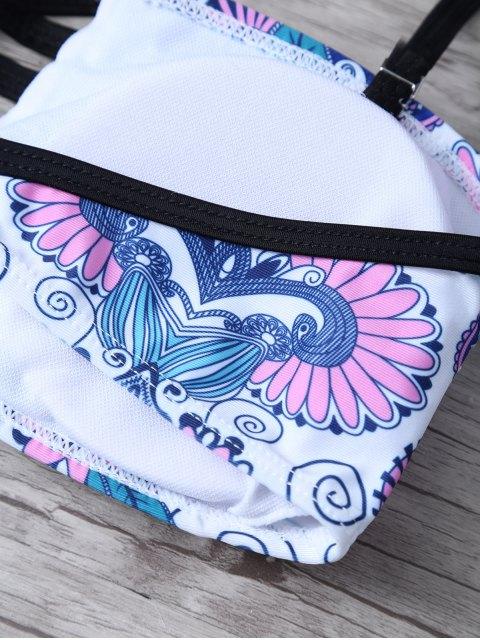 new Strappy Bandeau Bikini Top and Bottoms - WHITE S Mobile