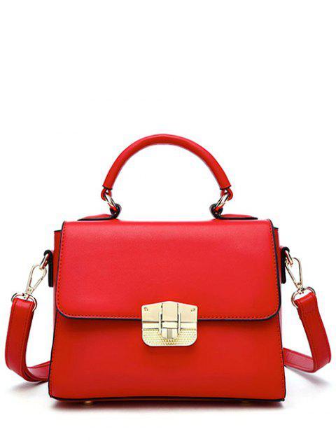 Vintage-Metall verziert Handtasche - Rot  Mobile