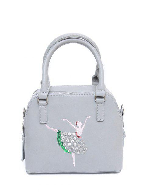 lady Sequined Rhinestones Zipper Tote Bag -   Mobile