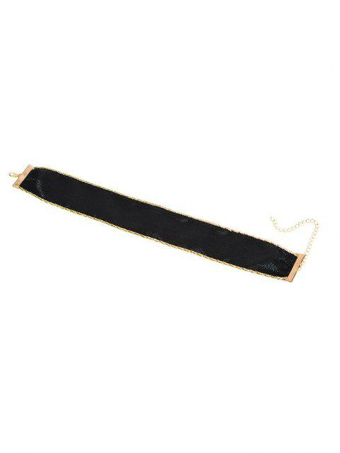 fancy PU Leather Choker -   Mobile