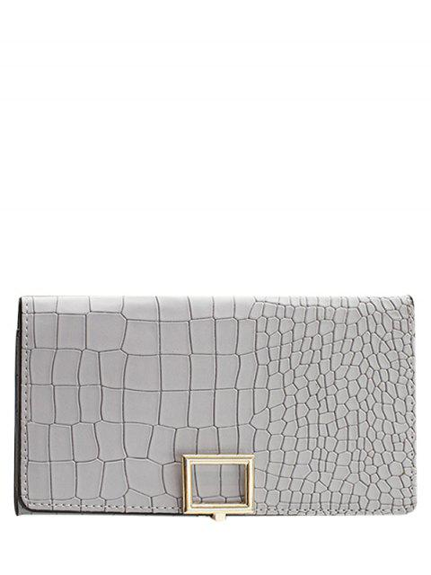 outfit Stone Pattern Tri Fold Wallet - LIGHT GRAY  Mobile