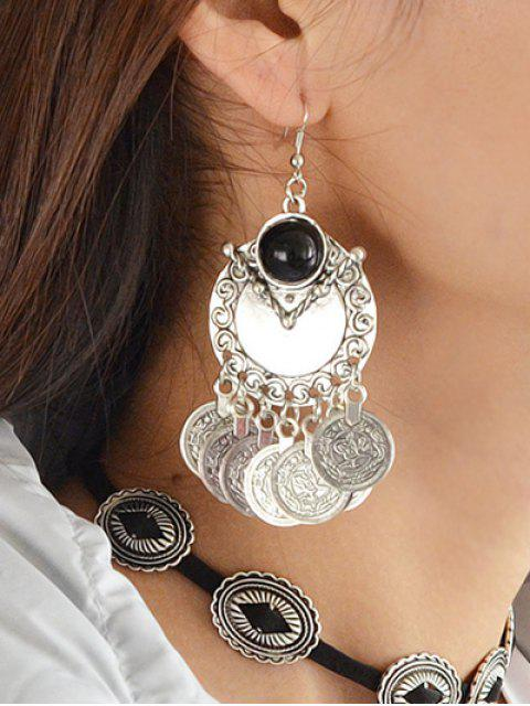 outfits Disc Fringe Drop Earrings -   Mobile