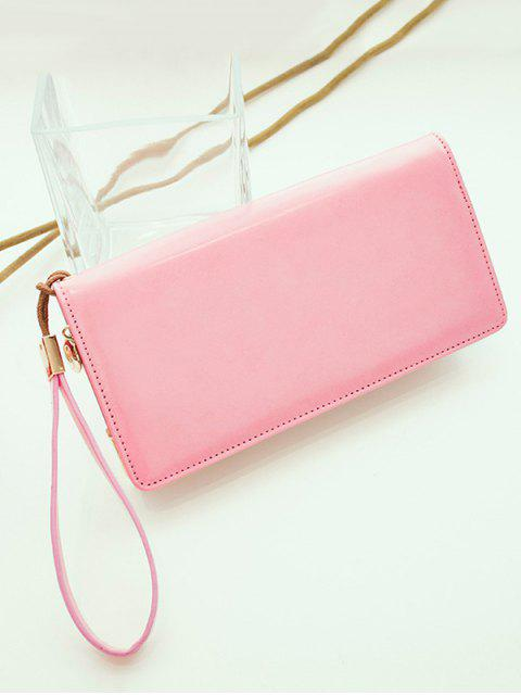 fashion Woven PU Leather Clutch Wallet -   Mobile