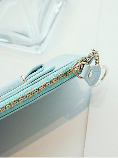 fashion Bowknot PU Leather Coin Purse - TIFFANY BLUE  Mobile