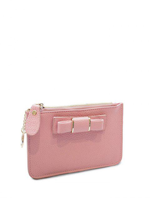 chic Bowknot PU Leather Coin Purse - PINK  Mobile