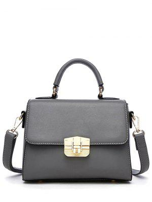 PU Leather Metal Crossbody Handbag
