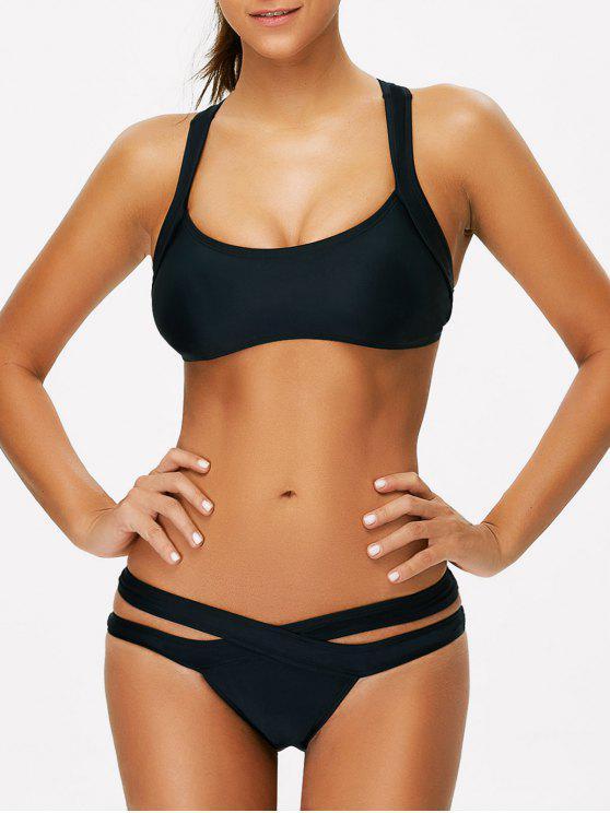 Bikini Deportivo Escotado - Negro L