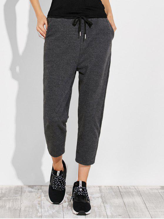 best Pockets Drawstring Pants - GRAY L