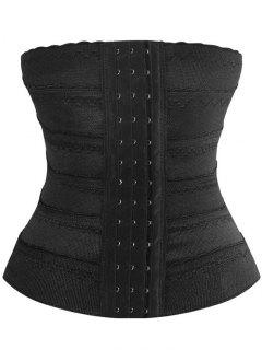 Stretchy Lace Panel Corset Training - Black S