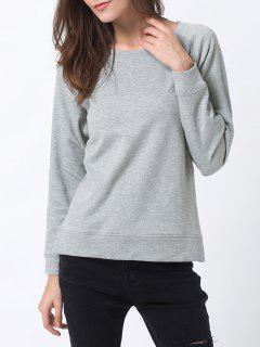 Basic Raglan Sweatshirt - Gray 2xl