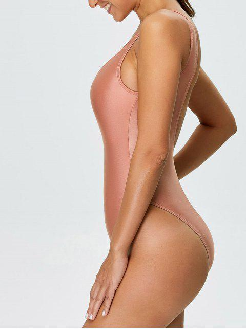 sale High Cut Backless Swimsuit - PINK L Mobile