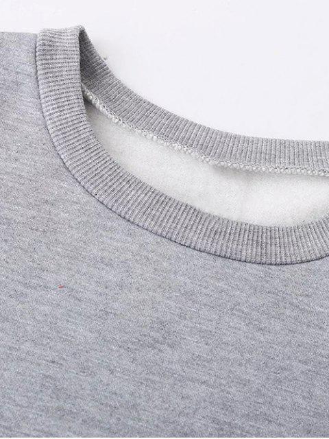 shops Fleece Lined Glasses Graphic Sweatshirt - BLACK M Mobile