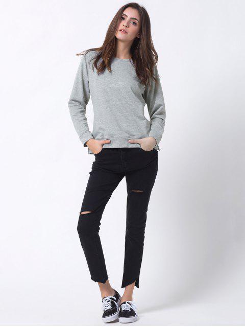 online Basic Raglan Sweatshirt - GRAY L Mobile