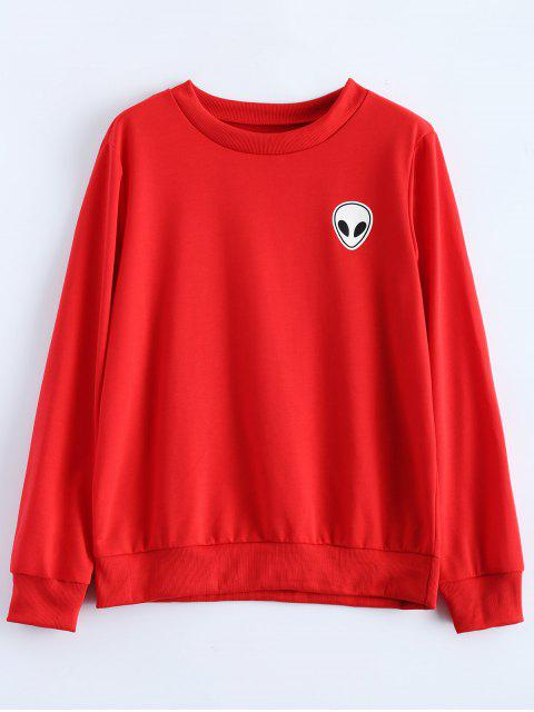 outfits Fitting Skull Sweatshirt - RED XL Mobile