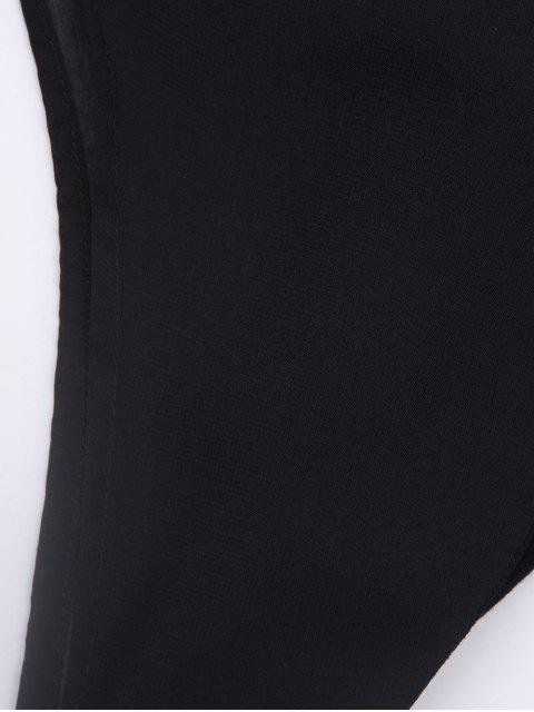 new Plunging Neck Layered Bodysuit - BLACK L Mobile