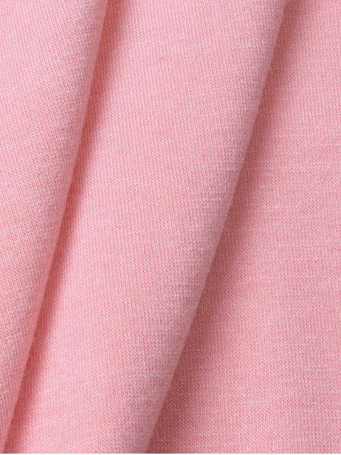 women's Graphic Roll Sleeve Tee - PINK L Mobile
