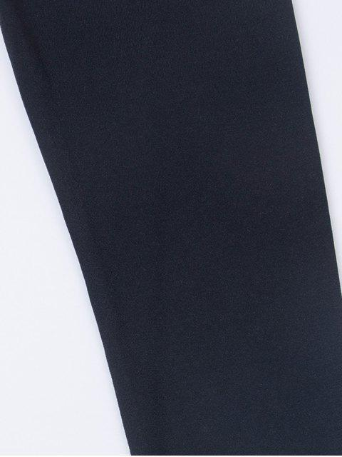 buy Fitted Long Sleeve Plunge Bodysuit - BLACK S Mobile