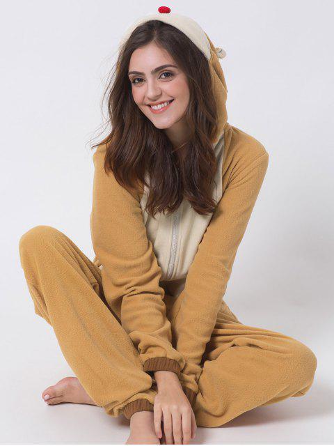 online Cartoon Costumes Reindeer Pajamas - ORANGE 2XL Mobile