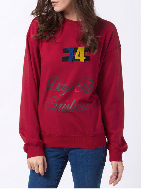 women Days Till Christmas Sweatshirt - RED 2XL Mobile