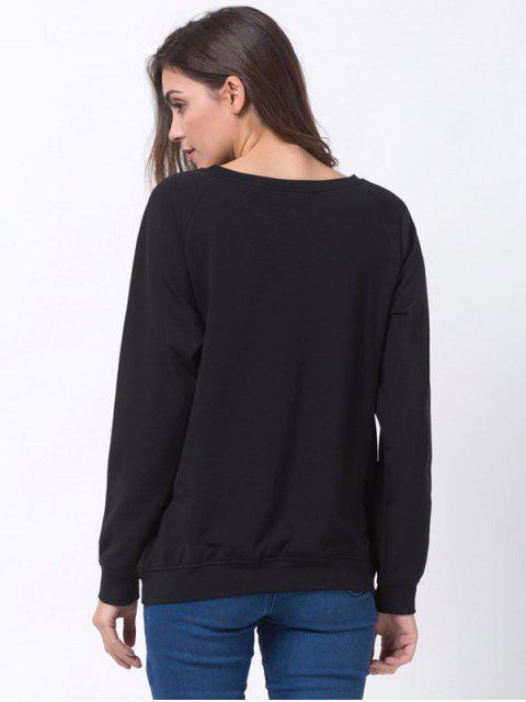 fancy Santa Made Me Do It Christmas Sweatshirt - BLACK XL Mobile