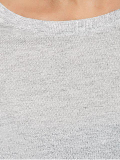 best Boxy Cropped Sweatshirt - GRAY M Mobile