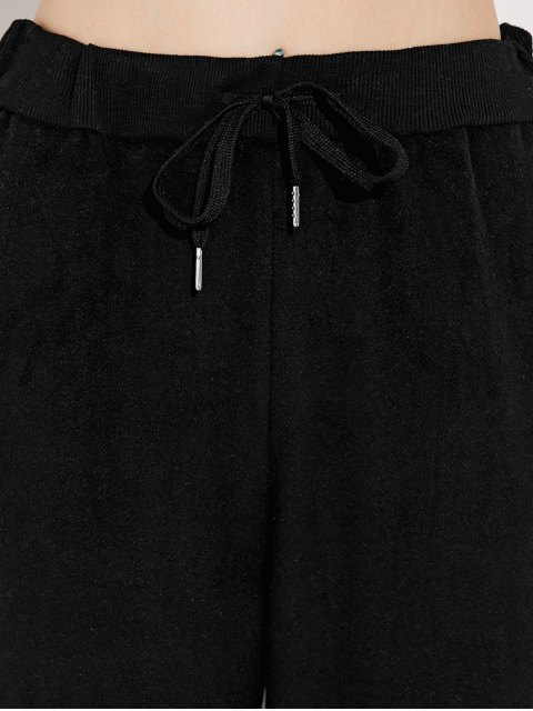 lady Pockets Drawstring Pants - BLACK M Mobile
