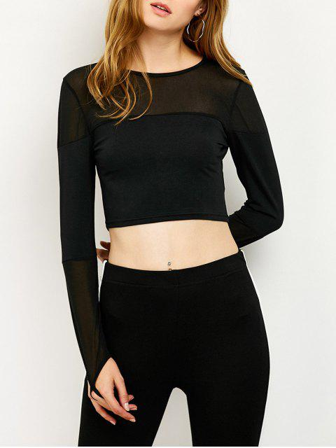 outfits See-Through Short T-Shirt - BLACK L Mobile