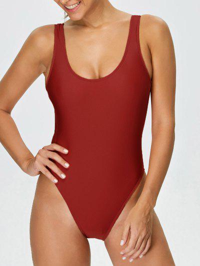 Backless High Cut Swimwear