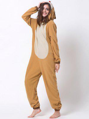 Cartoon Costumes Reindeer Pajamas - Orange Xs