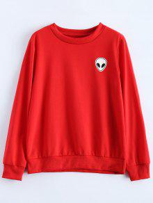 Buy Fitting Skull Sweatshirt - RED L