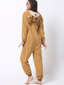 32% OFF  2019 Cartoon Costumes Reindeer Pajamas In ORANGE 2XL  e3e3517dd