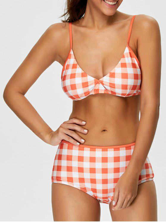outfits High Rise Checked Bikini - JACINTH M