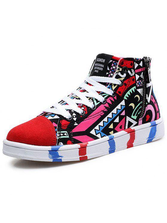 8ba2d67b58ff2 High Top Printed Canvas Shoes