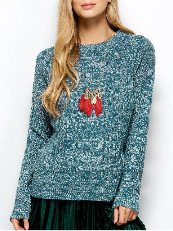 Pull tricoté - Turquoise Taille Unique
