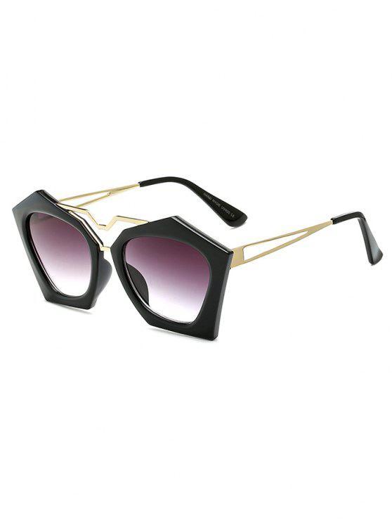 Gafas De Sol Ahuecadas Piernas Irregulares - Negro