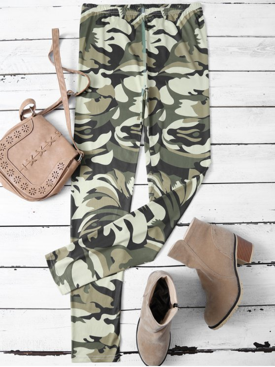 online Camouflage Skinny Leggings - CAMOUFLAGE COLOR L