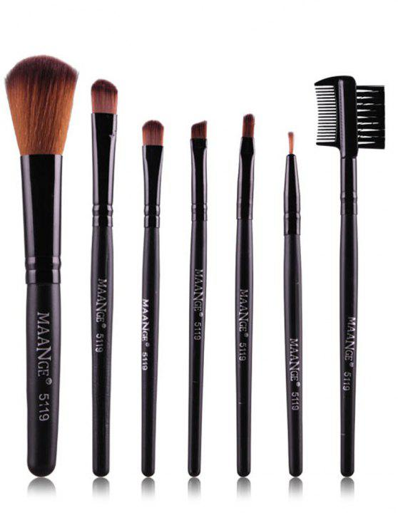 buy Fiber Makeup Brushes Set - BLACK