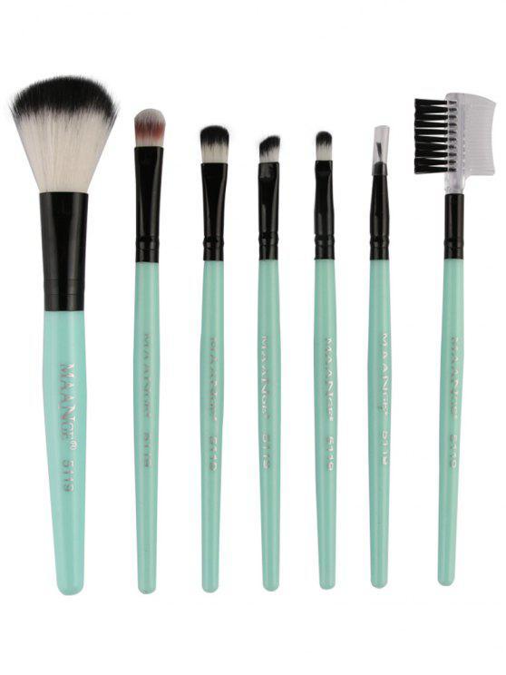 women Fiber Makeup Brushes Set - GREEN
