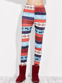 Snowflake Christmas Leggings - Multi S