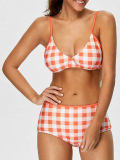 High Rise Checked Bikini - Jacinth S