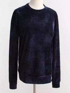 Sweat-shirt Surdimensionné En Velours - Bleu Violet