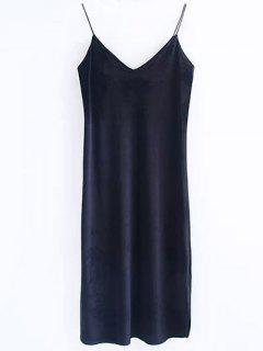 Cami Velvet Midi Dress - Black S
