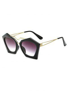 Hollow Out Leg Irregular Sunglasses - Black