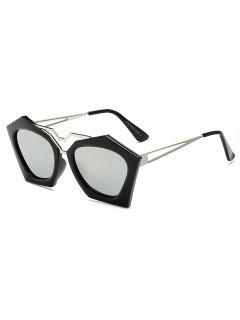 Irregular Mirrored Sunglasses - Silver