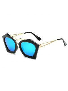 Irregular Mirrored Sunglasses - Ice Blue